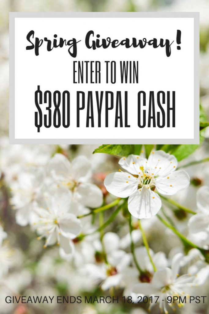 Spring Giveaway $380 PayPal Cash Our Crafty Mom