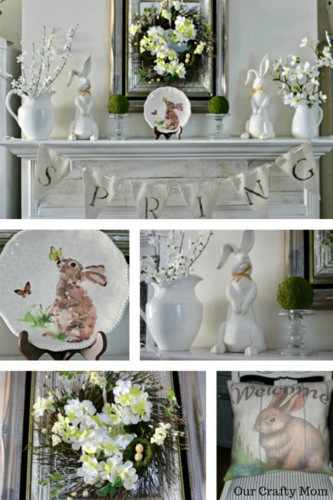 Spring Mantel Decorating Ideas Our Crafty Mom