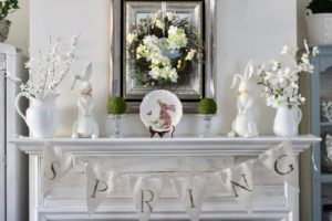Spring Mantel Decorating Ideas-Blog Hop