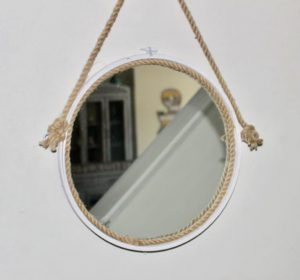 How To Make A Captains Mirror From An Embroidery Hoop
