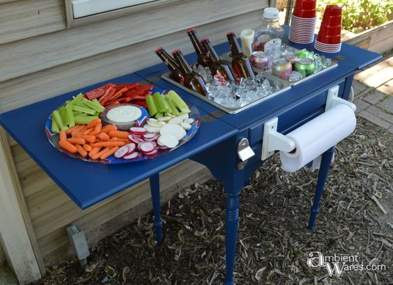 https://ambientwares.com/152/july-4-inspired-party-cart-from-an-old-sewing-table