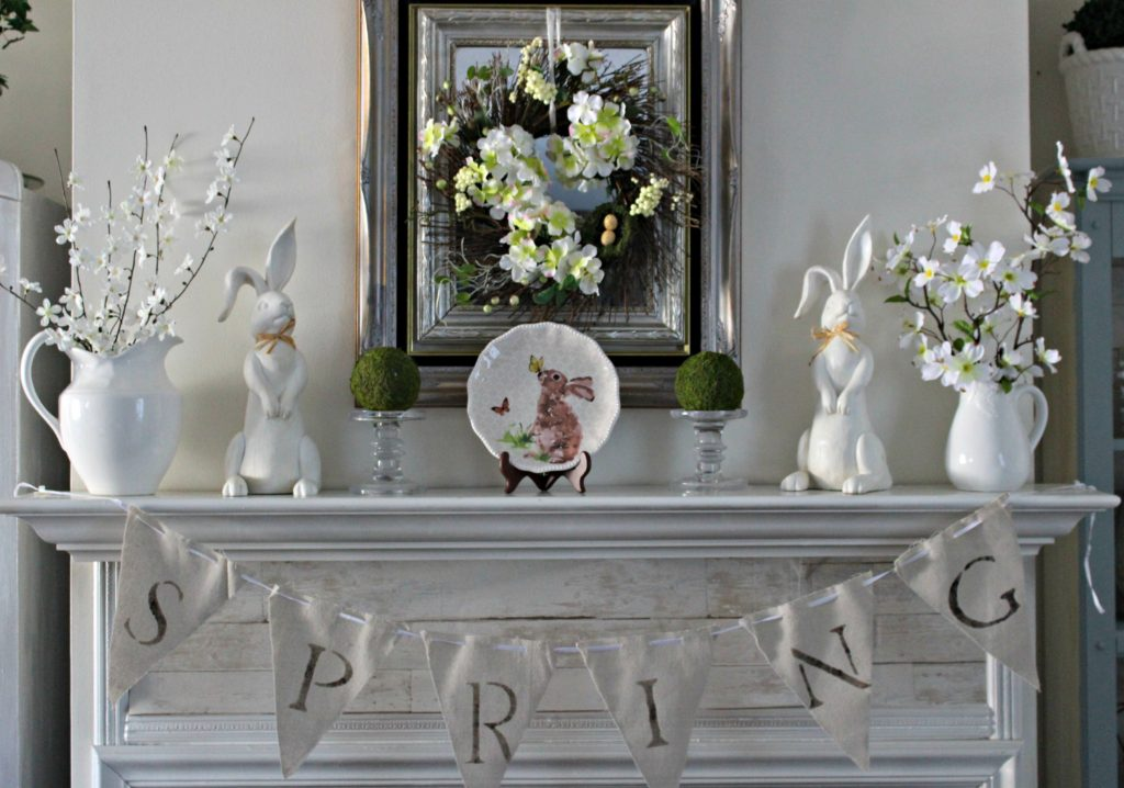 Spring Mantel Blog Hop Our Crafty Mom