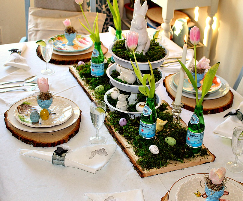 Thrifty Decor Ideas Easter Table Our Crafty Mom