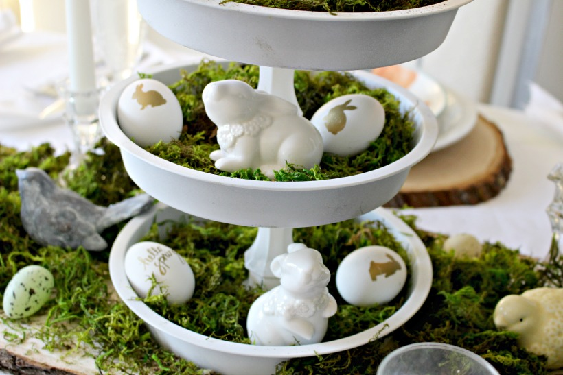 Thrift Decor Ideas For Your Easter Tablescape Our Crafty Mom