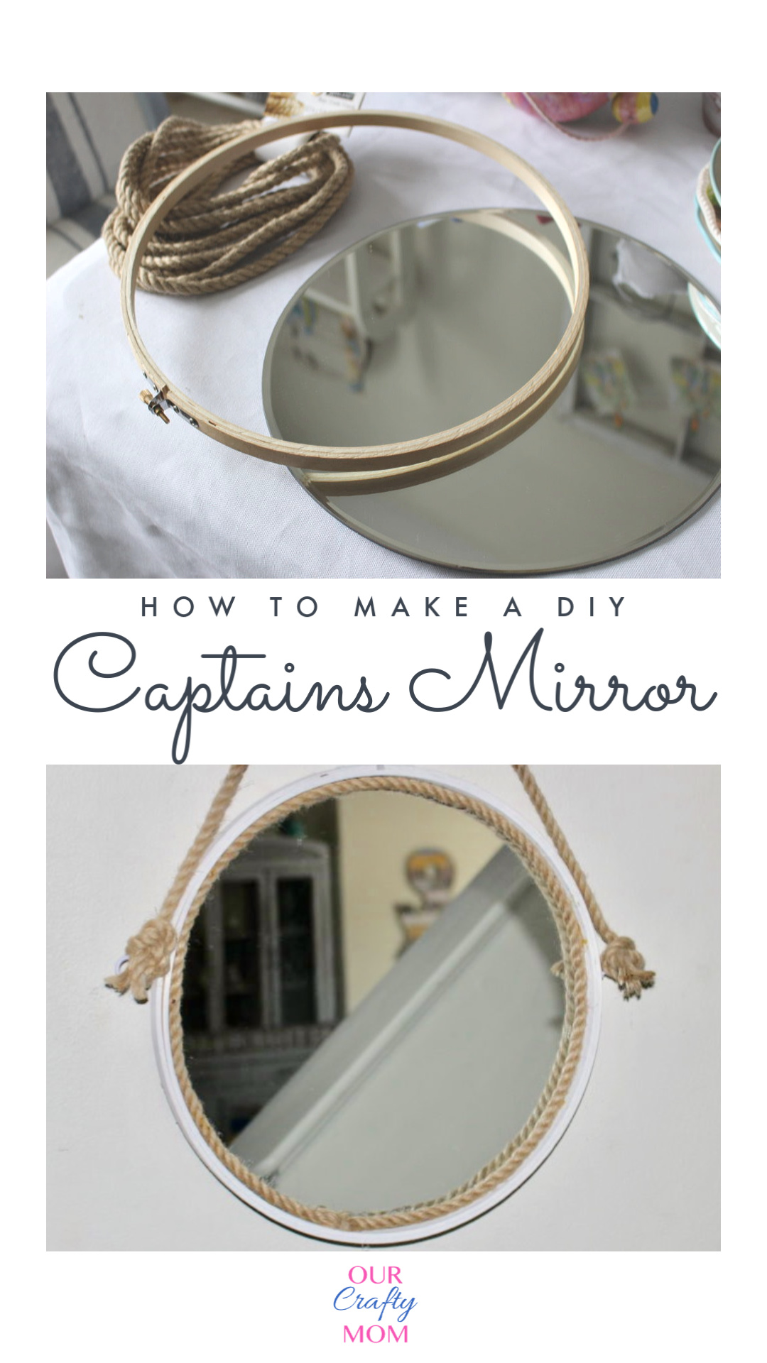 before and after captains mirror diy
