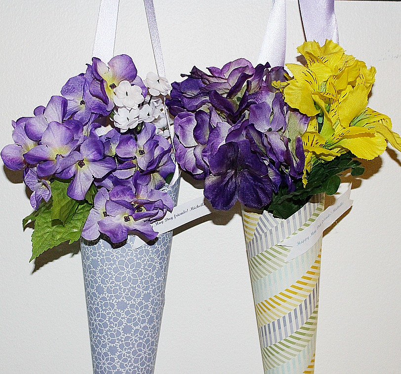 Bling on Spring Make A May Day Flower Cone Our Crafty Mom