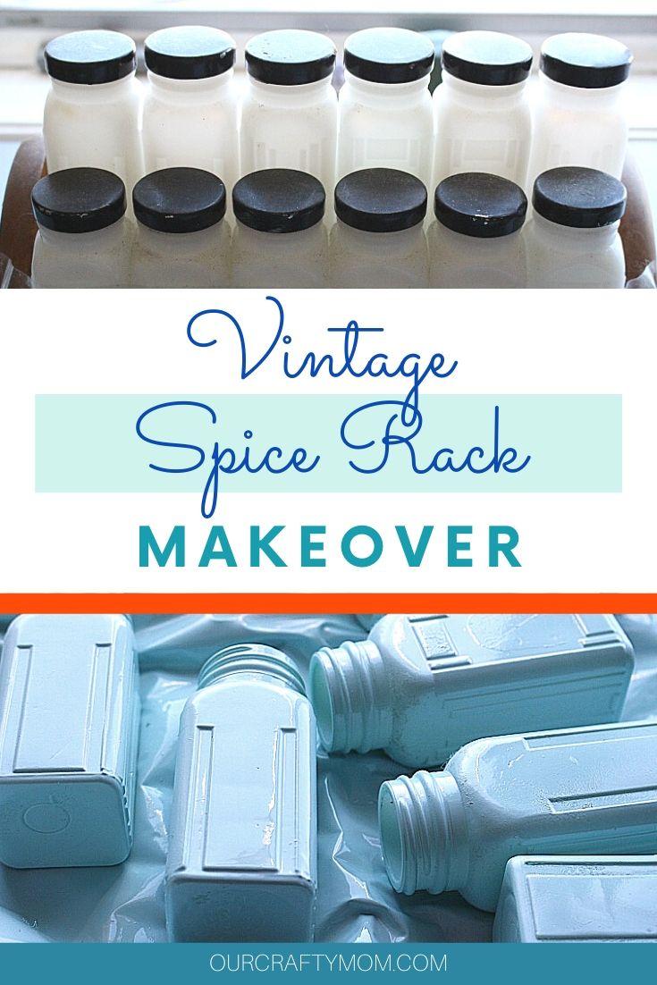 vintage spice rack makeover