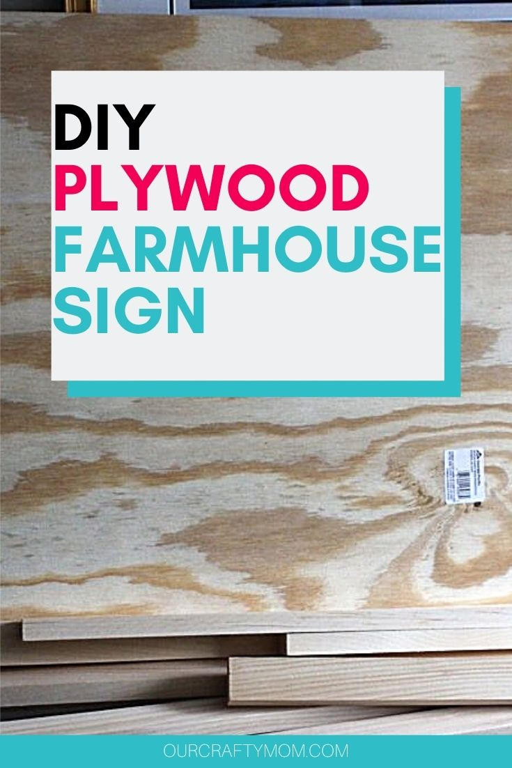 DIY plywood farmhouse sign