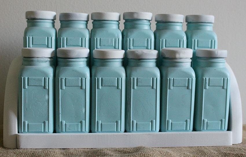 Craft Destash Challenge Milk Glass Spicerack Our Crafty Mom 2