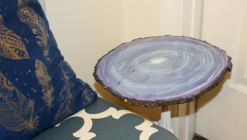 Faux Agate Side Table Our Crafty Mom 8