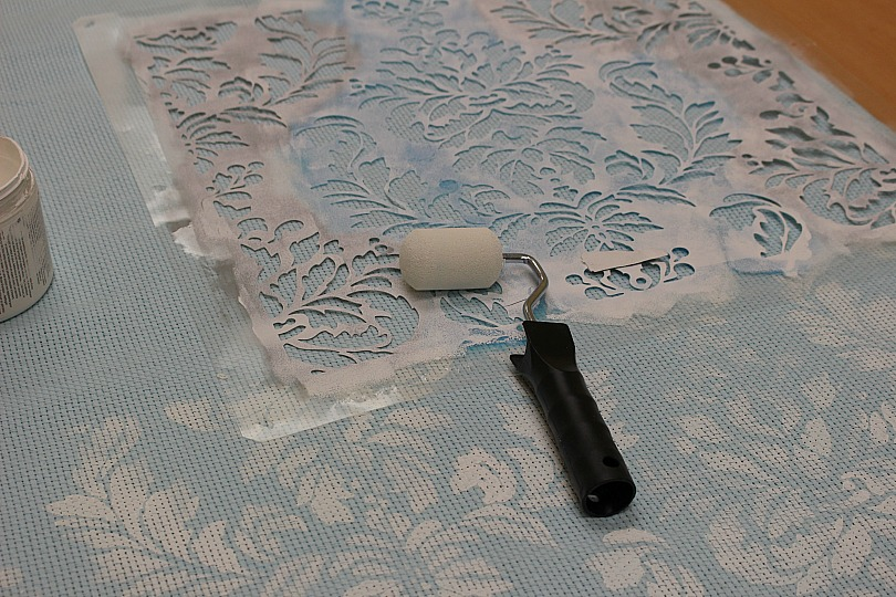 Make Your Own No Sew Stenciled Curtains Our Crafty Mom 4