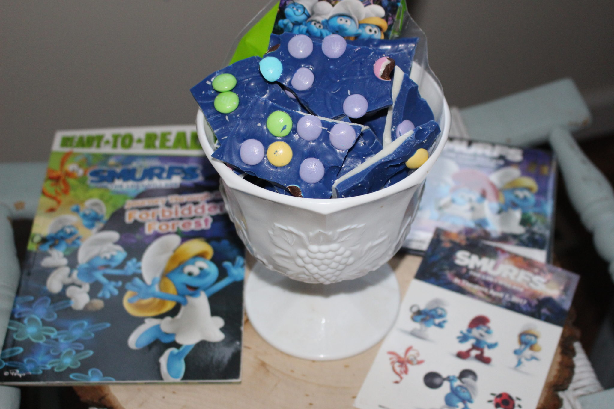 Candy Bark Treat Bags Inspired By Smurfs & Giveaway Our Crafty Mom