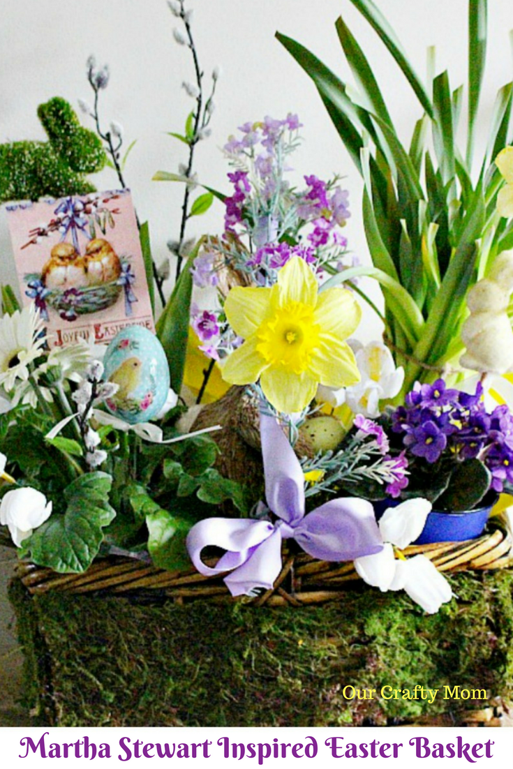 Martha Stewart Inspired Easter Basket Our Crafty Mom