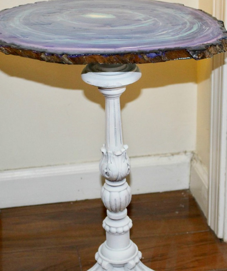 Create A Faux Agate Side Table Our Crafty Mom