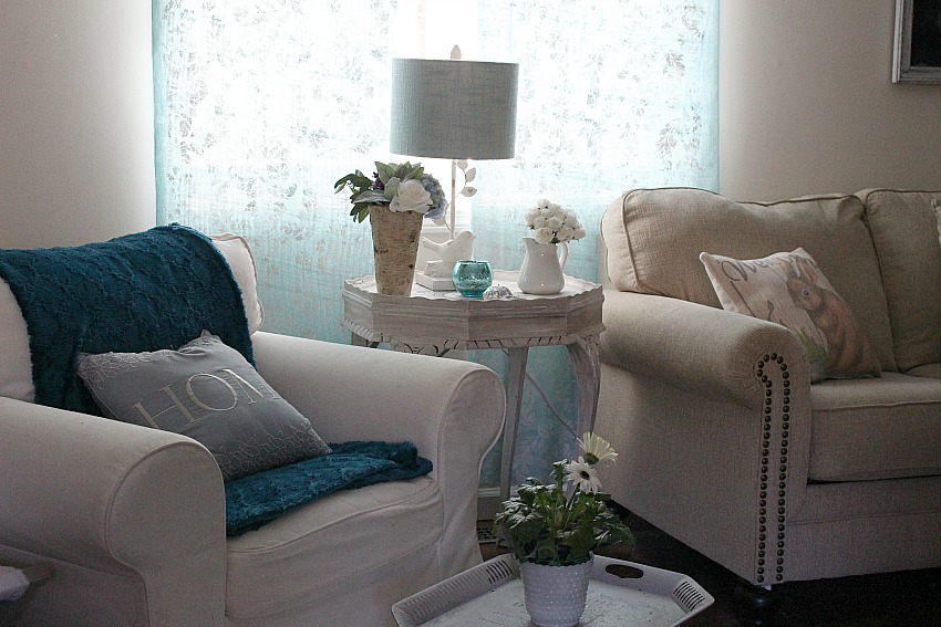 Make Your Own No Sew Stenciled Curtains