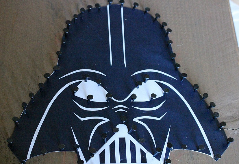 Movie Monday Challenge Darth Vader String Art Our Crafty Mom 2