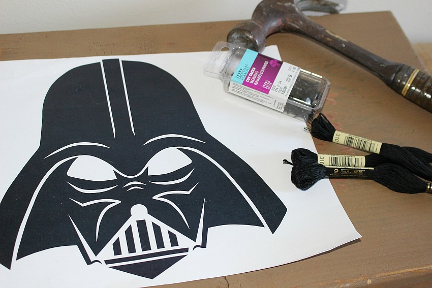 Movie Monday Challenge Darth Vader String Art