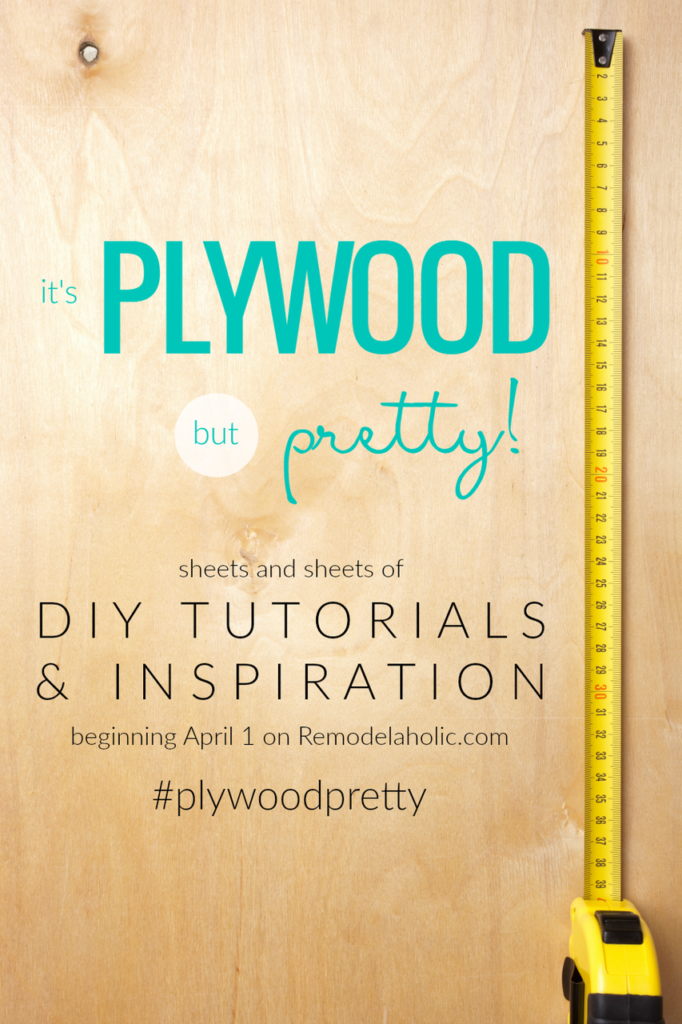 #PlywoodPretty Challenge Our Crafty Mom