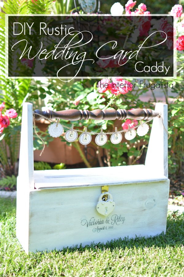 Interior Frugalista Wedding Card Caddy with Graphic