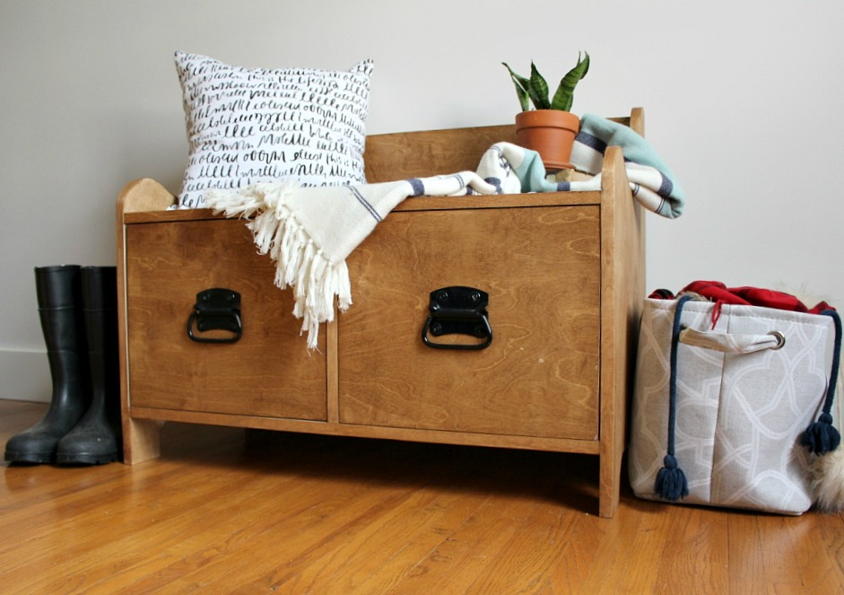 Woodshop Diaries Entryway Bench PlywoodPretty Horizontal Image