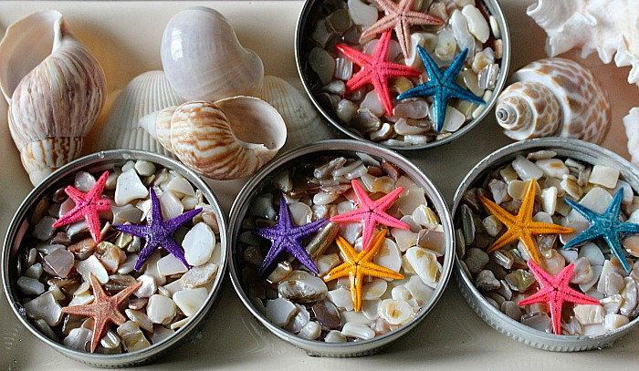 DIY Beach Themed Coasters From Mason Jar Lids Our Crafty Mom