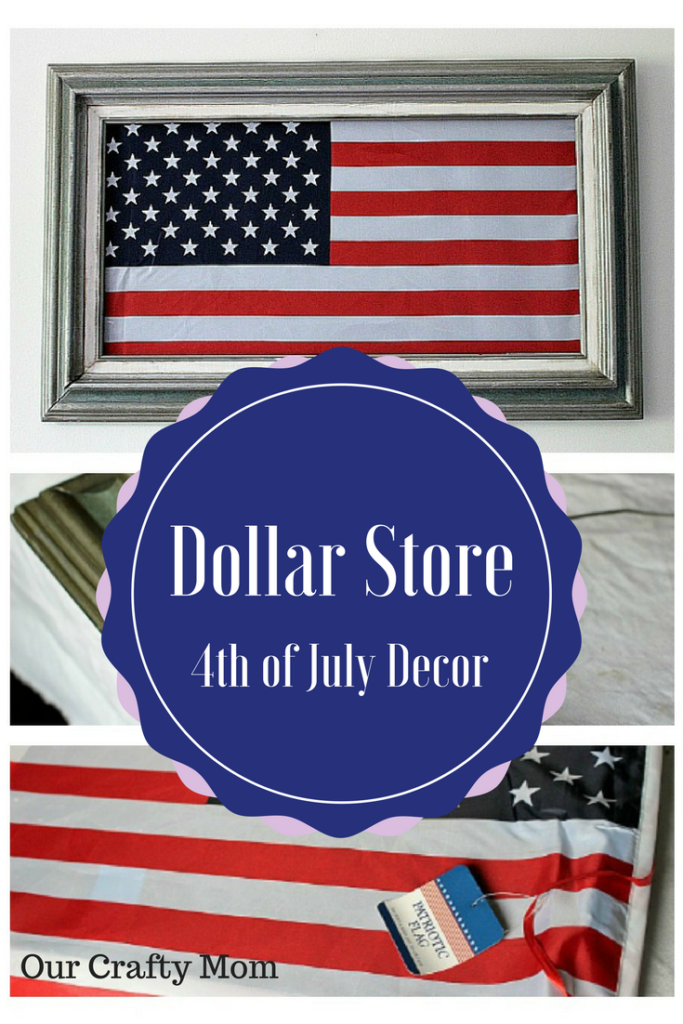 DIY Dollar Store Fourth of July Art-Our Crafty Mom