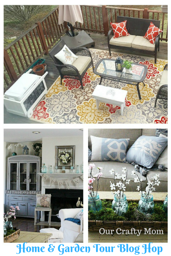 Home & Garden Tour Blog Hop Our Crafty Mom Pinterest