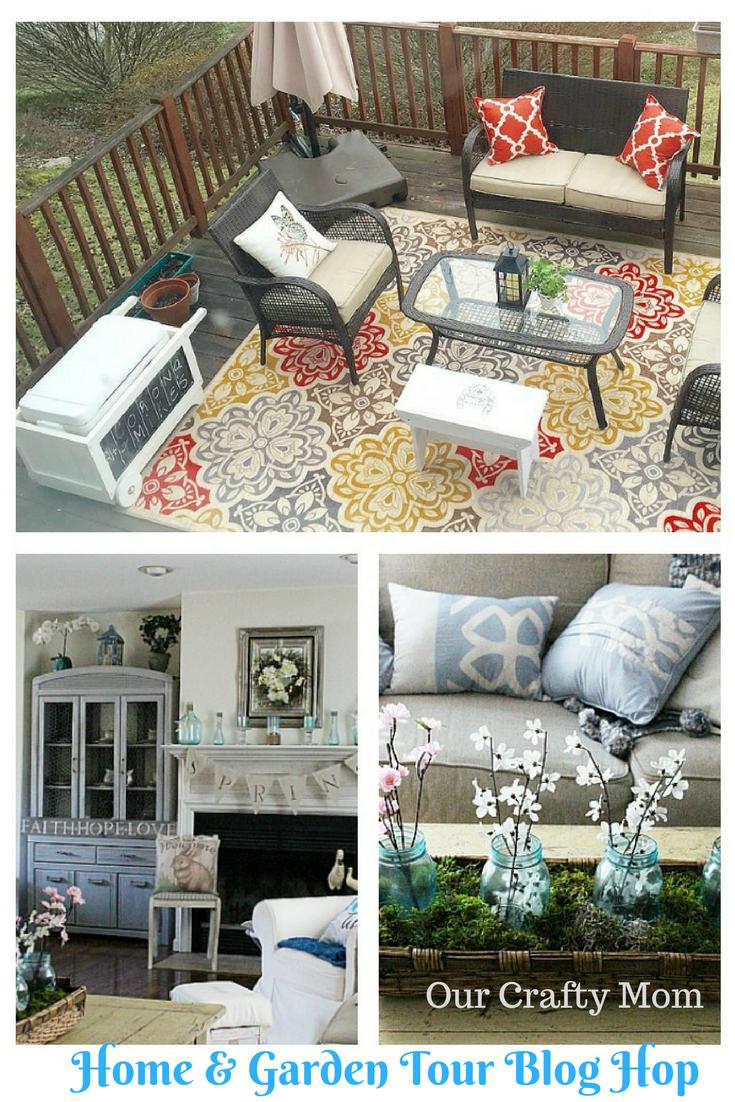 Home & Garden Tour Blog Hop Our Crafty Mom Pinterest