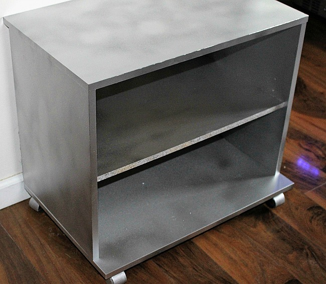 How To Turn An Old Bookshelf Into A DIY Bar Cart Our Crafty Mom 9