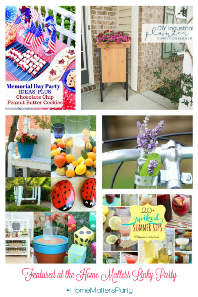 Come join the fun and link your blog posts at the Home Matters Linky Party 137. Find inspiration recipes, decor, crafts, organize -- Door Opens Friday EST.