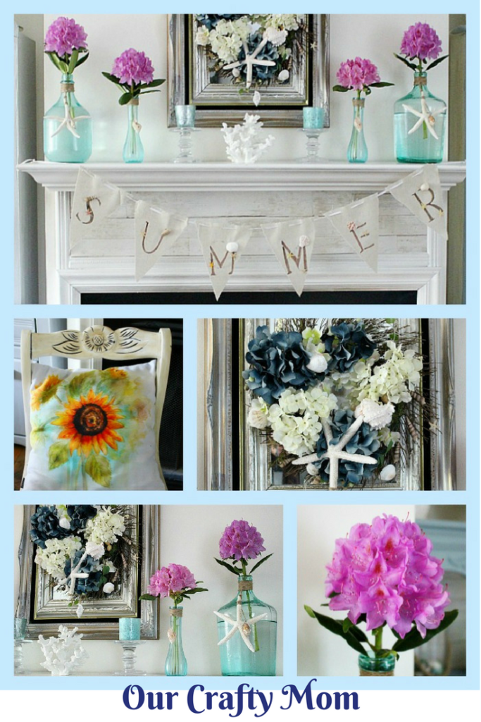 Summer Mantel Decorating Ideas Our Crafty Mom