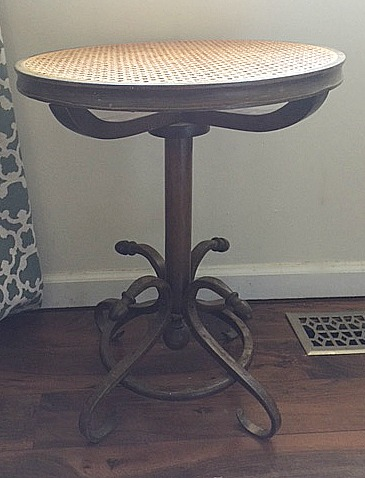 Thrift Store Cane Top Table Makeover Our Crafty Mom 10