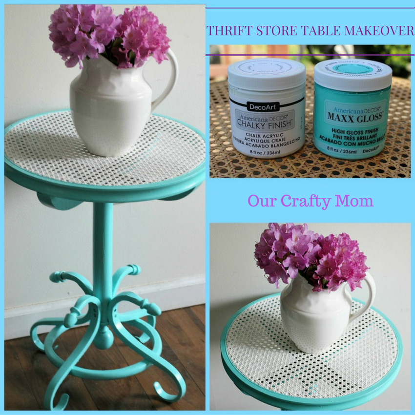 Thrift Store Cane Top Table Makeover Our Crafty Mom Pinterest.jpg