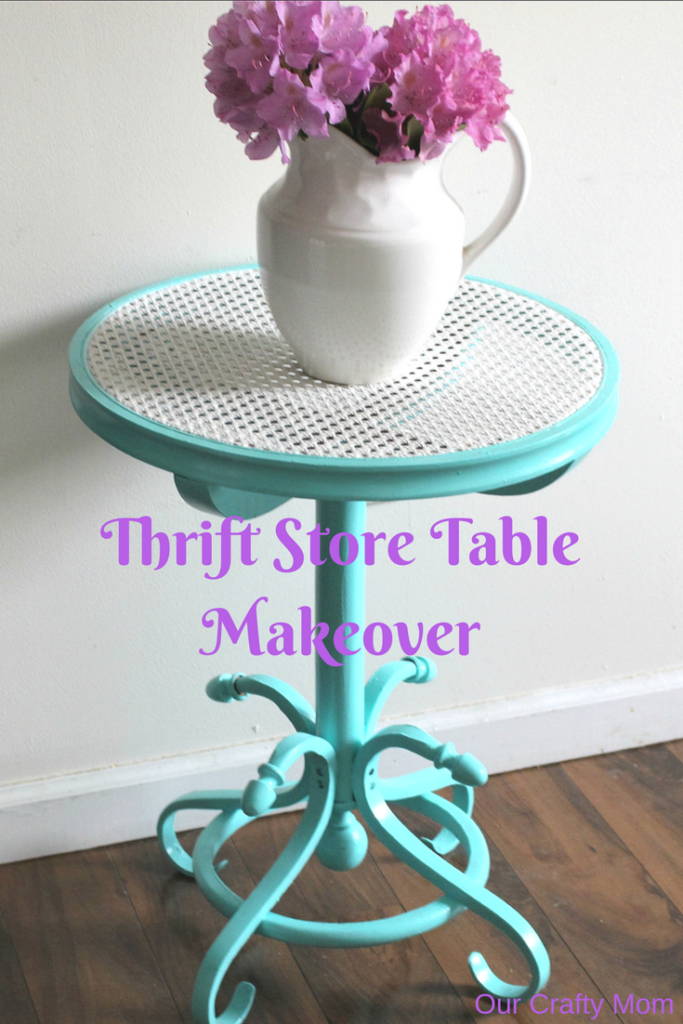 Thrift Store Table Makeover Pinterest Our Crafty Mom