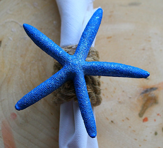 DIY Coastal Napkin Rings With Starfish Our Crafty Mom 6