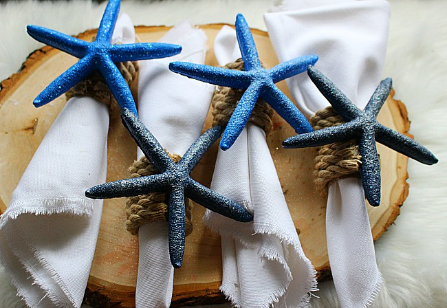 DIY Coastal Napkin Rings With Starfish Our Crafty Mom 5
