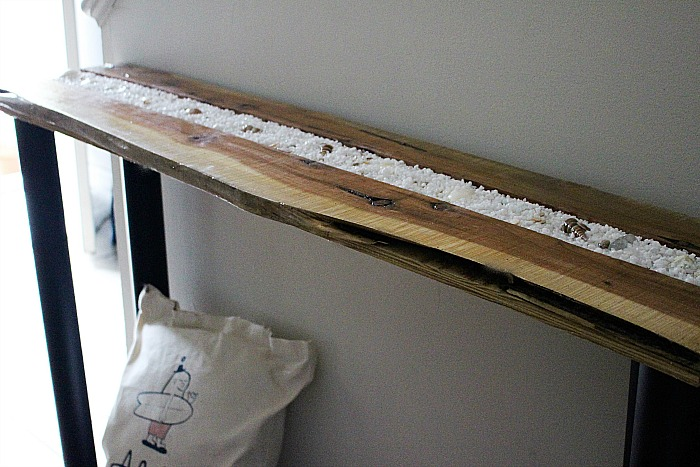 Diy Live Edge Wood Industrial Farmhouse Console Table Our