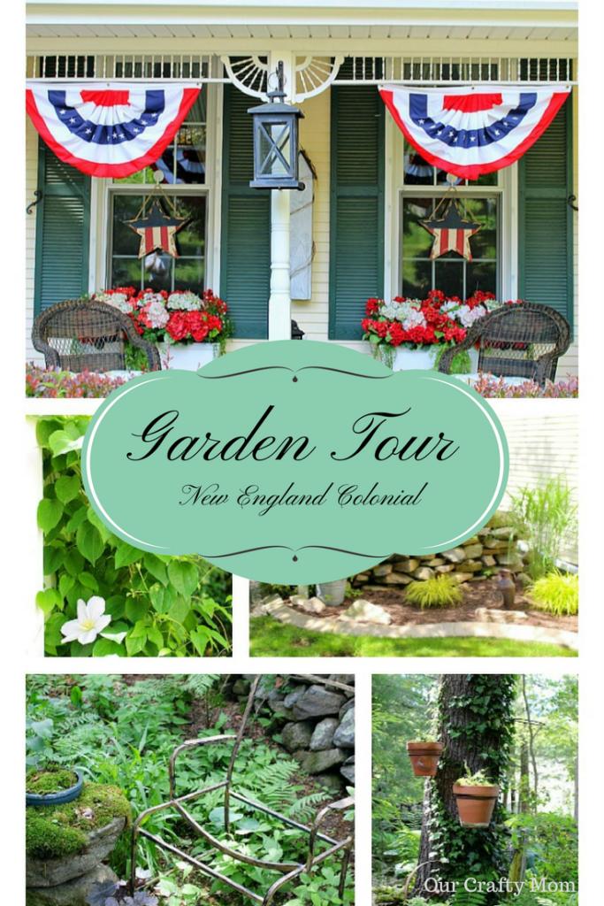 New England Colonial Home & Garden Tour Our Crafty Mom