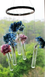 Hanging Bud Vase Wind Chime-Monthly Crafty De-Stash