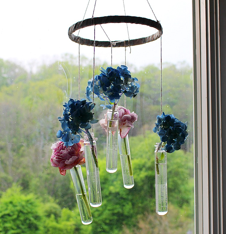 Hanging Bud Vase Wind Chime Our Crafty Mom