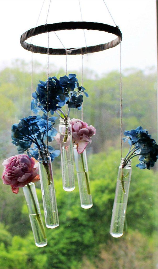 Hanging Bud Vase Wind Chime-Monthly Crafty De-Stash