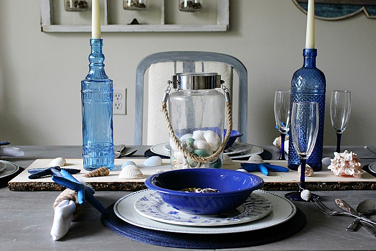 How To Create A Coastal Inspired Summer Tablescape Our Crafty Mom