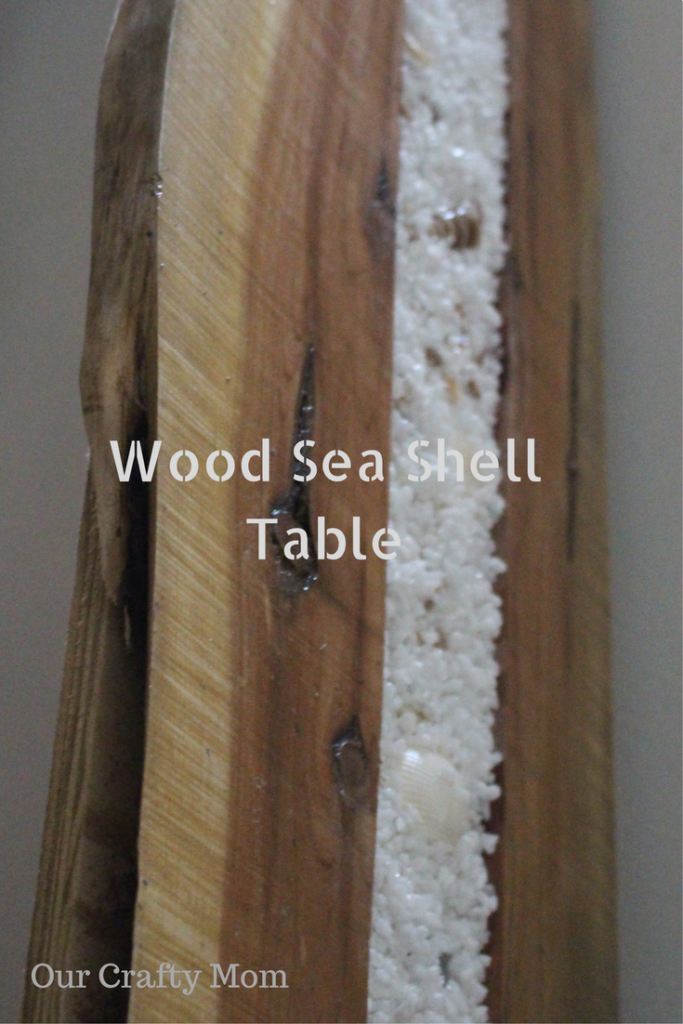 Wood Sea Shell Table Our Crafty Mom