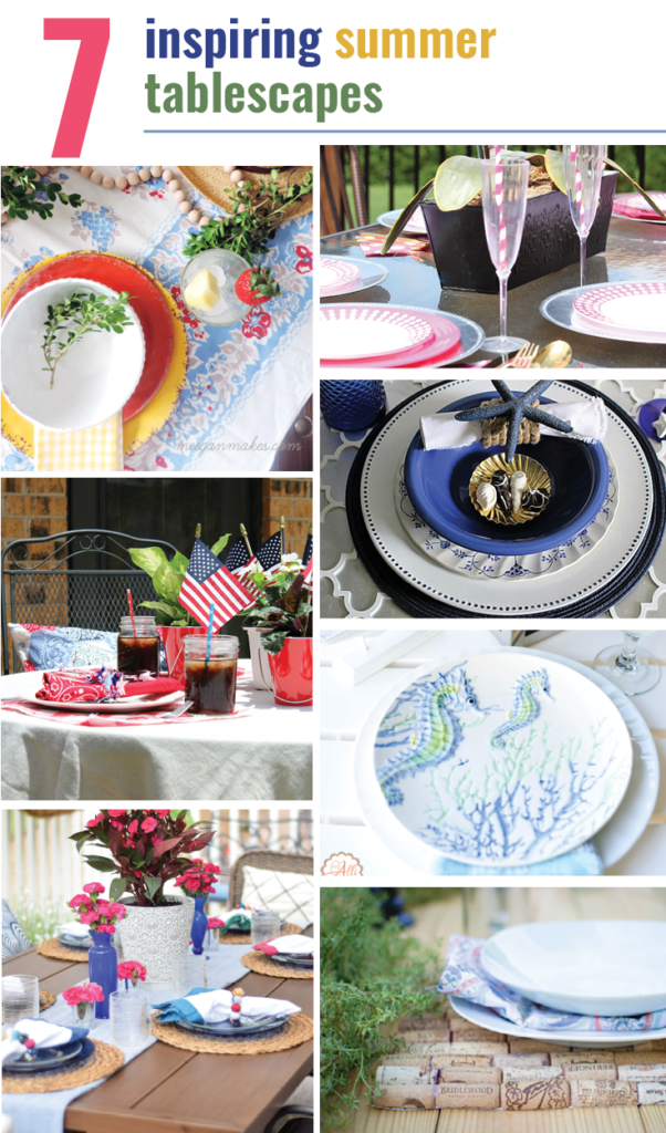 How to create A Coastal Inspired Tablescape Our Crafty Mom