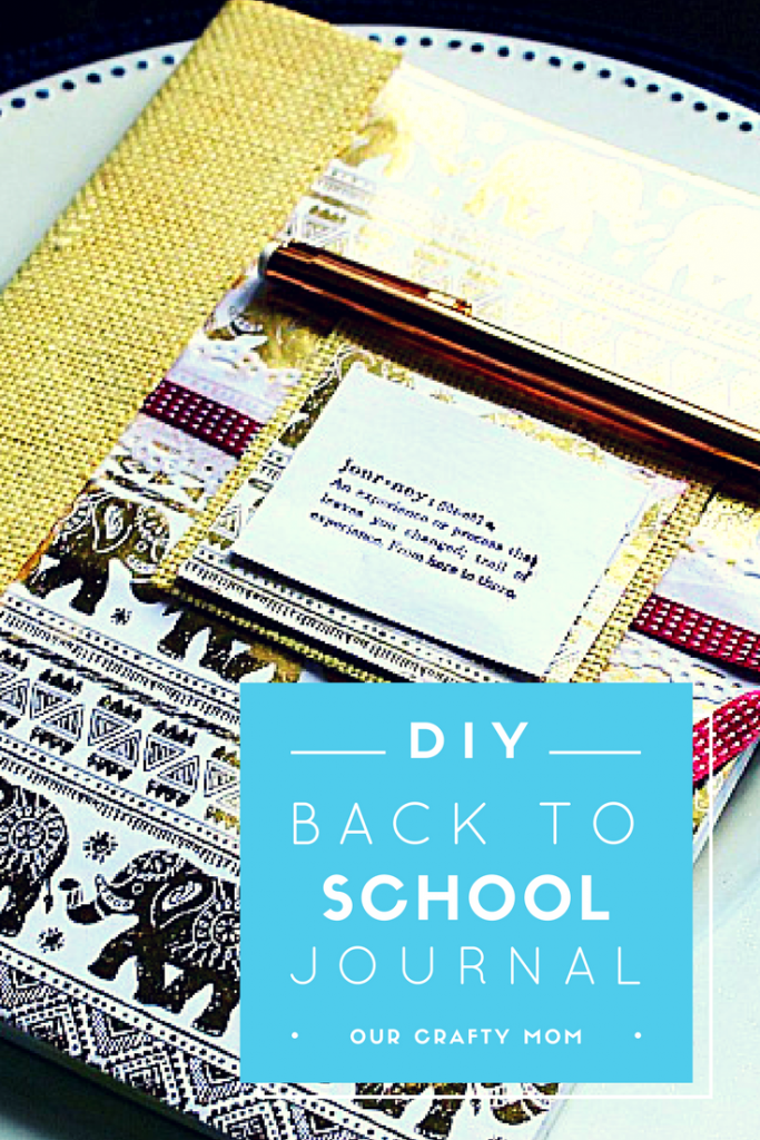 Back to School Teacher Gift DIY Journal Our Crafty Mom