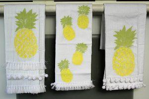 DIY Pineapple Flour Sack Towels