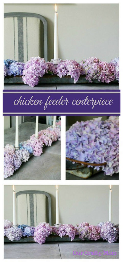 Upcycle A Chicken Feeder Into A Table Centerpiece Our Crafty Mom