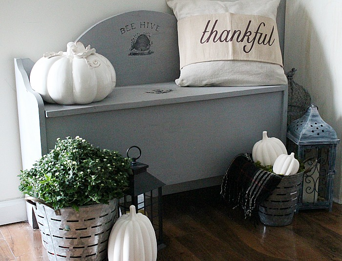 Create A Farmhouse Fall Vignette Our Crafty Mom