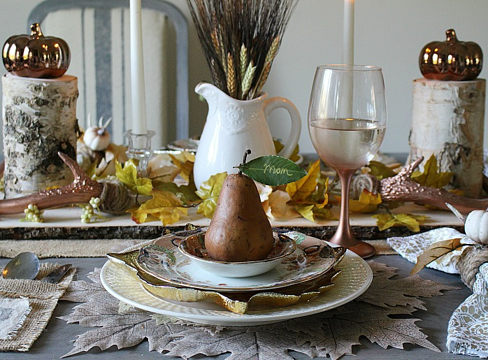 Create A Neutral Rustic Fall Tablescape & A Blog Hop Our Crafty Mom