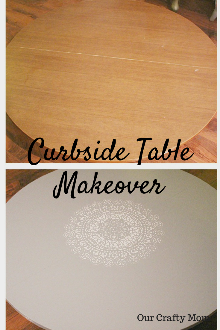 A Curbside Kitchen Table Makeover Our Crafty Mom